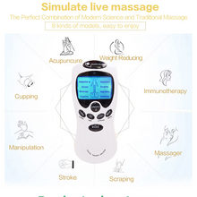 Load image into Gallery viewer, Digital 8 Pads Acupuncture Body Muscle Massager