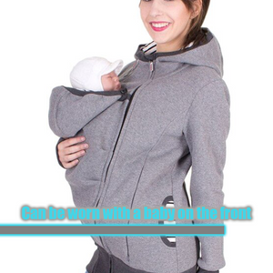 Kangaroo Pocket Unisex Hooded Jacket