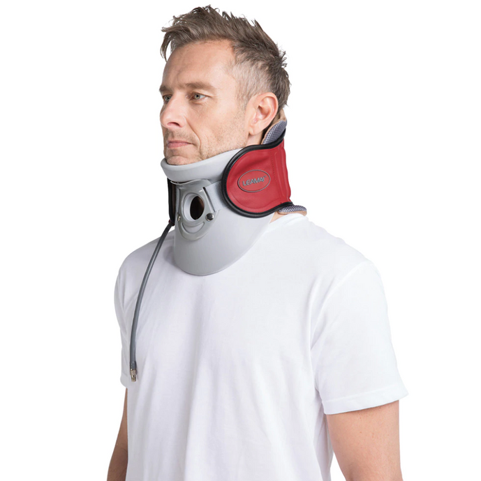 Red Edition Perfect Posture Medical Cervical Traction Device