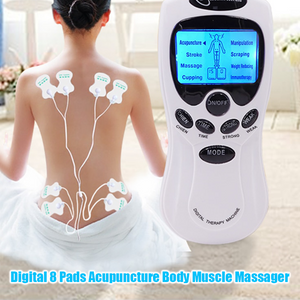 Digital 8 Pads Acupuncture Body Muscle Massager