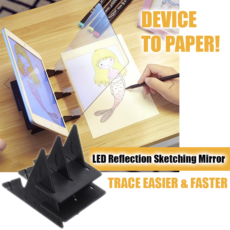 LED Reflection Sketching Mirror Board