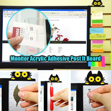 Load image into Gallery viewer, Monitor Acrylic Adhesive Post It Board