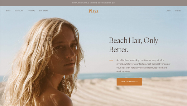 playa natural shopify cosmetic beeclever ecommerce