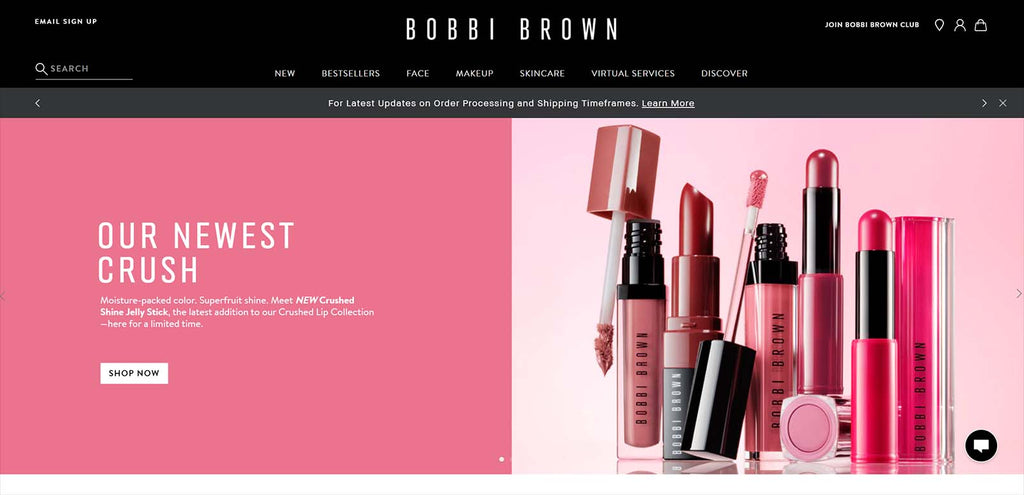 Beste Shopify Beauty Stores: Bobbi Brown