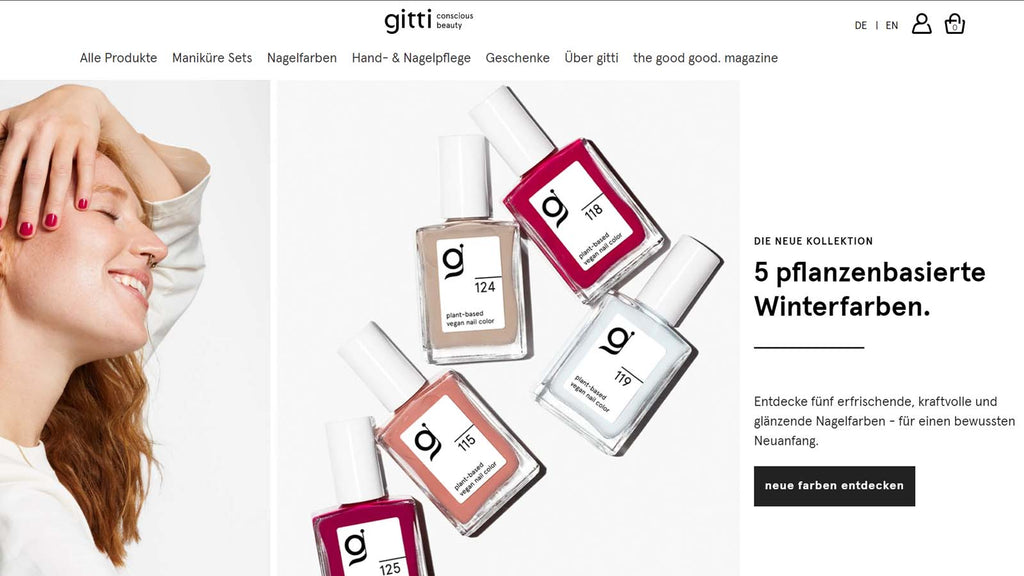 Shopify Beauty Stores: Giiti Conscious Beauty