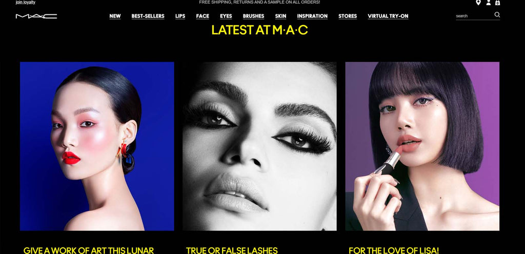 beste shopify beauty stores: MAC