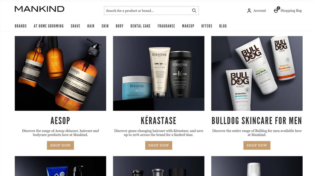 beste shopify beauty stores: Mankind