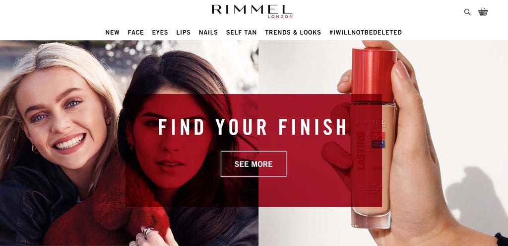 shopify beauty stores: Rimmel