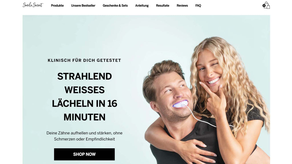 Beste Shopify Beauty Stores: Smile Secret