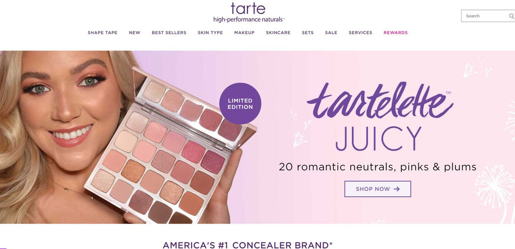 beste shopify beauty stores: Tarte