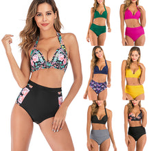 Load image into Gallery viewer, Bikini Sets For women High Waisted Halter String Suits