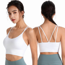 Load image into Gallery viewer, Yoga Activewear Tops For Women Strappy Workout Clothes