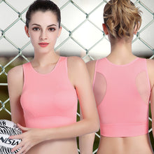 Load image into Gallery viewer, Yoga Activewear Tops For Women Back Mesh Stitching Running Bra