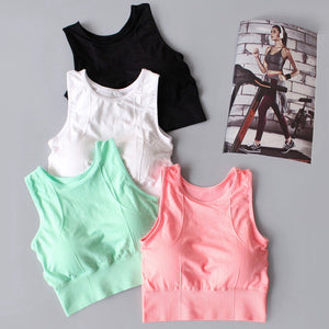 Yoga Activewear Tops For Women Back Mesh Stitching Running Bra