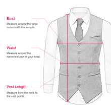 Load image into Gallery viewer, Men's Formal Suit Vest Made-to-Order Black Wedding Prom 2 Pockets Waistcoat