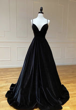 Load image into Gallery viewer, Black Prom Dress 2021 Velvet