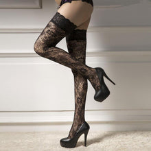 Load image into Gallery viewer, Suspender Stockings Pantyhose Garter Fishnet Lace Tights