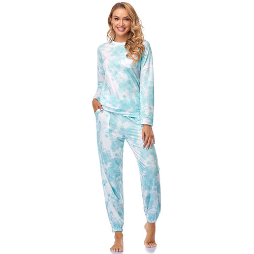 Tie Dye Pajama Set for Women Lounge Set