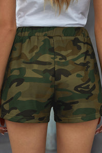 Camouflage Women's Lounge Shorts High Waist