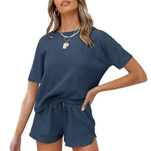 Load image into Gallery viewer, Lounge Sets For Women Short Sleeve 2 Piece Casual Outfits