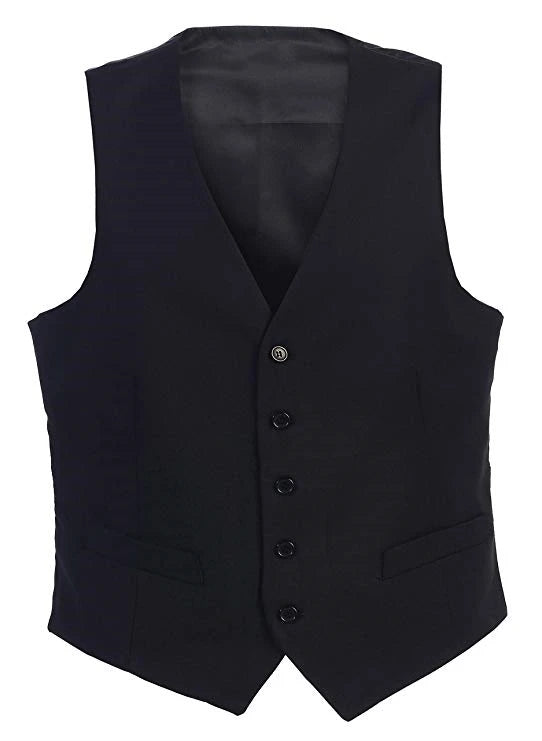 Men's Formal Suit Vest Made-to-Order Black Wedding Prom 2 Pockets Waistcoat