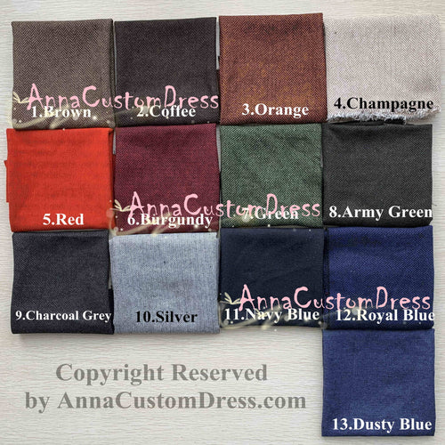 Herringbone Men's Suit Vests Fabric Swatches
