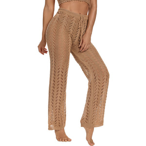Sexy Cover-ups For Women Knitted Hollow Pants