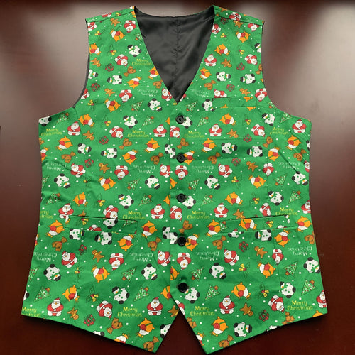 Men's Ugly Christmas Vest Made to Order Boys Kids Christmas Vest