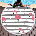 Serviette de plage ronde Happiness