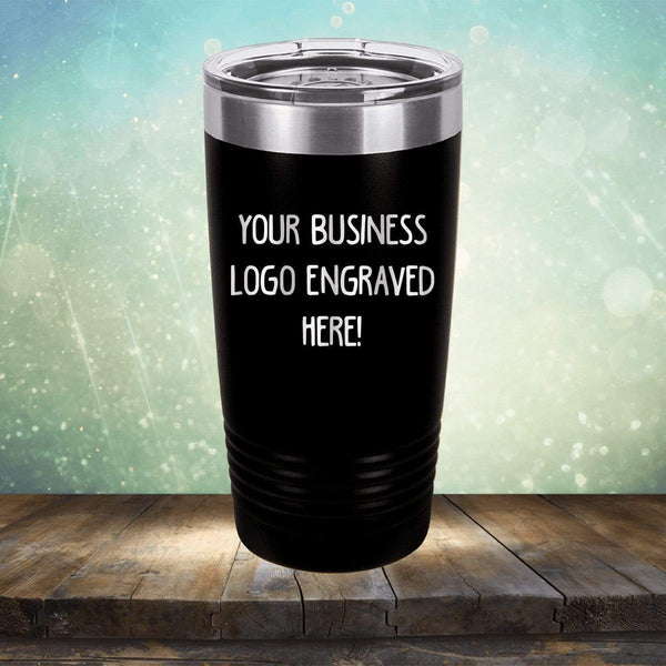 PRESIDENTS DAY SALE - Custom Laser Engraved Logo Drinkware - Single Side Engraving Included in Price