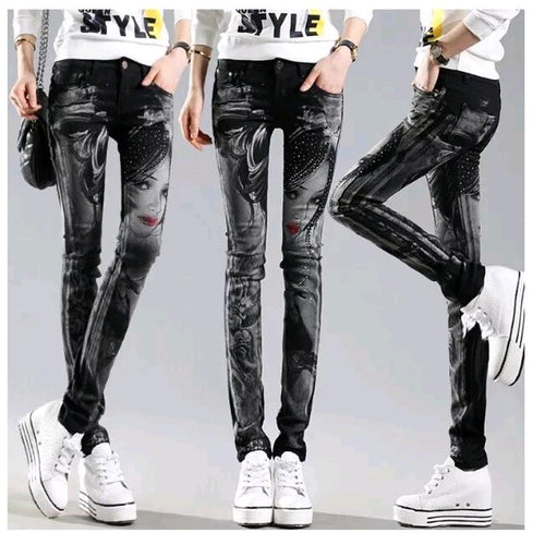 Willow Black Long Jeans