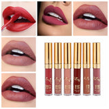 BEAUTY GLAZED 6Pcs/Set Matte Liquid Lipstick Lip Gloss Kits Makeup Lipgloss Long Lasting Cosmetics Maquiagem