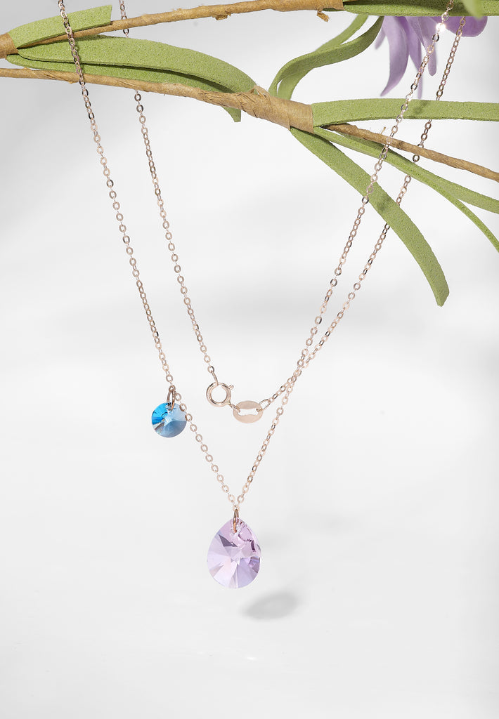 Lacrima Necklace In Lilac & Blue