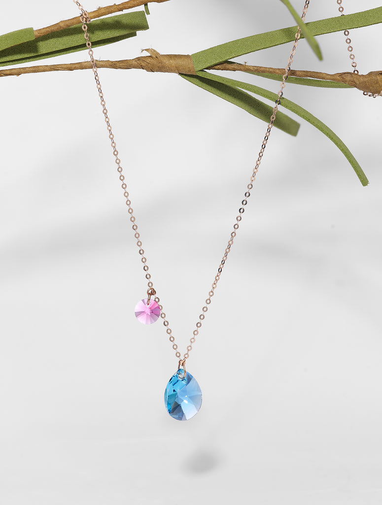 Lacrima Necklace In Blue & Pink