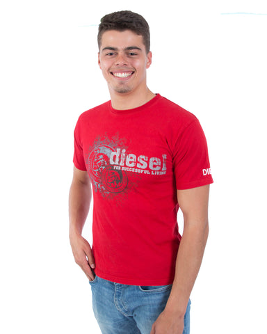 Diesel T-Shirt Rood - Small