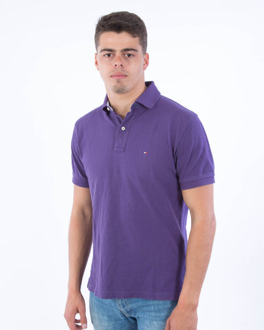 Tommy Hilfiger Polo Paars - Medium