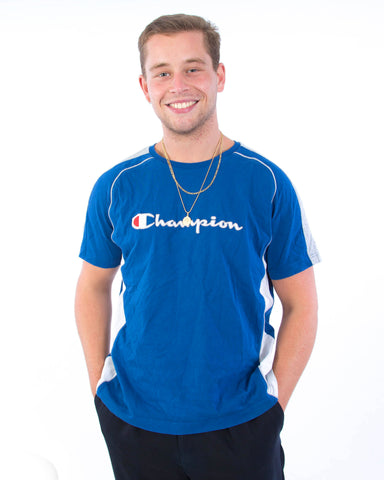 Champion T-Shirt Blauw - Large