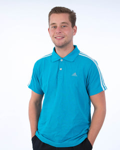 Adidas Sport Polo Blauw - Medium