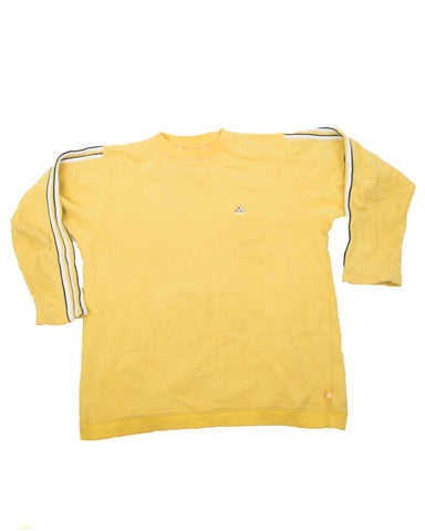 Vintage Adidas Geel Sweater - Medium
