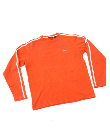 Vintage Fila Oranje Sweater - Small