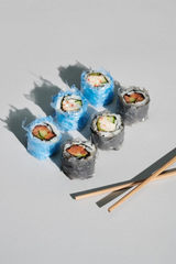 Microplastics in sushi photo series by Sweet Sneak
