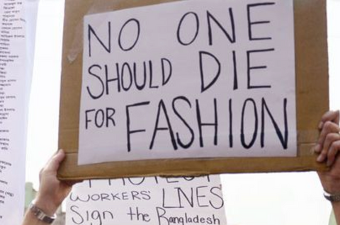 No One Should Die For Fashion Protest