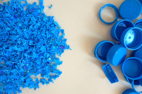 Recycled plastic water bottles turned into materials