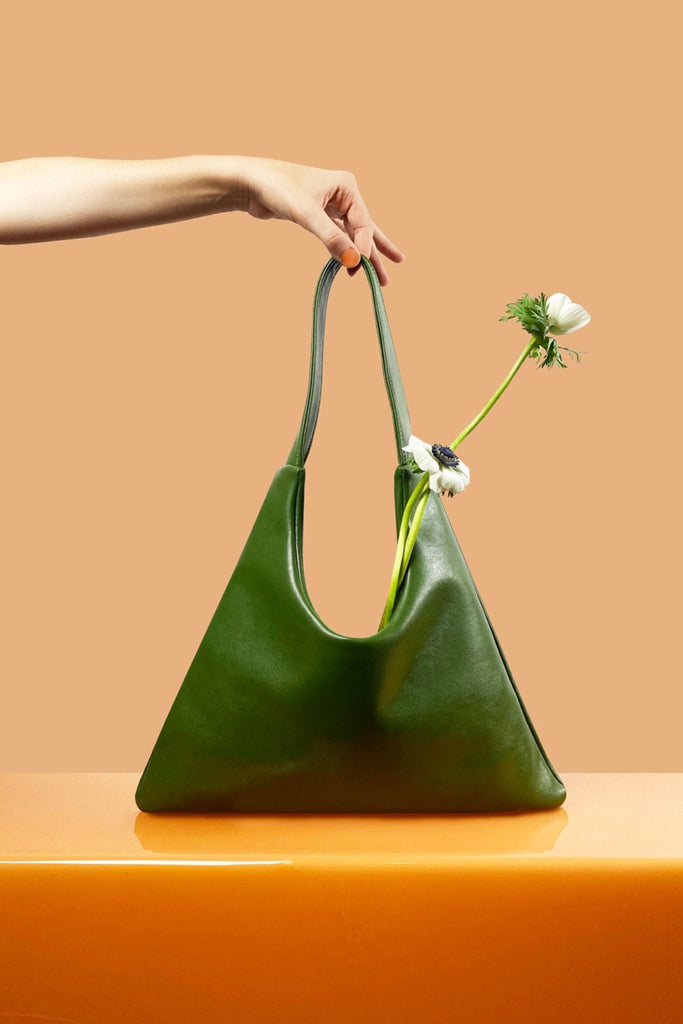 Agave Triangular Tote in Green