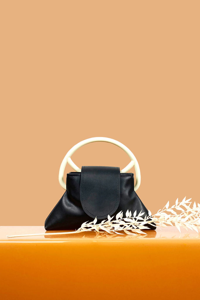 Cala Structured Purse in Black
