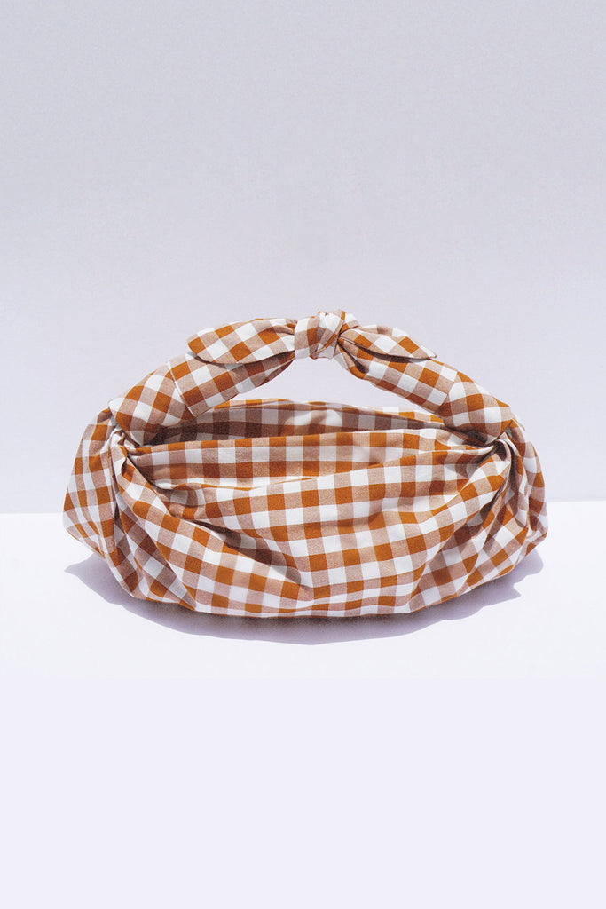 Ginger Gingham Knot Bag