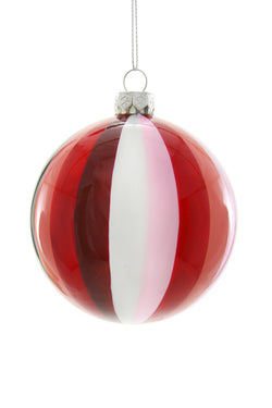 Tonal Pinwheel Bauble - Rose Ornament
