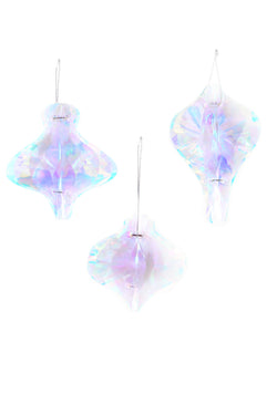 Iridescent Ornament Set of 3