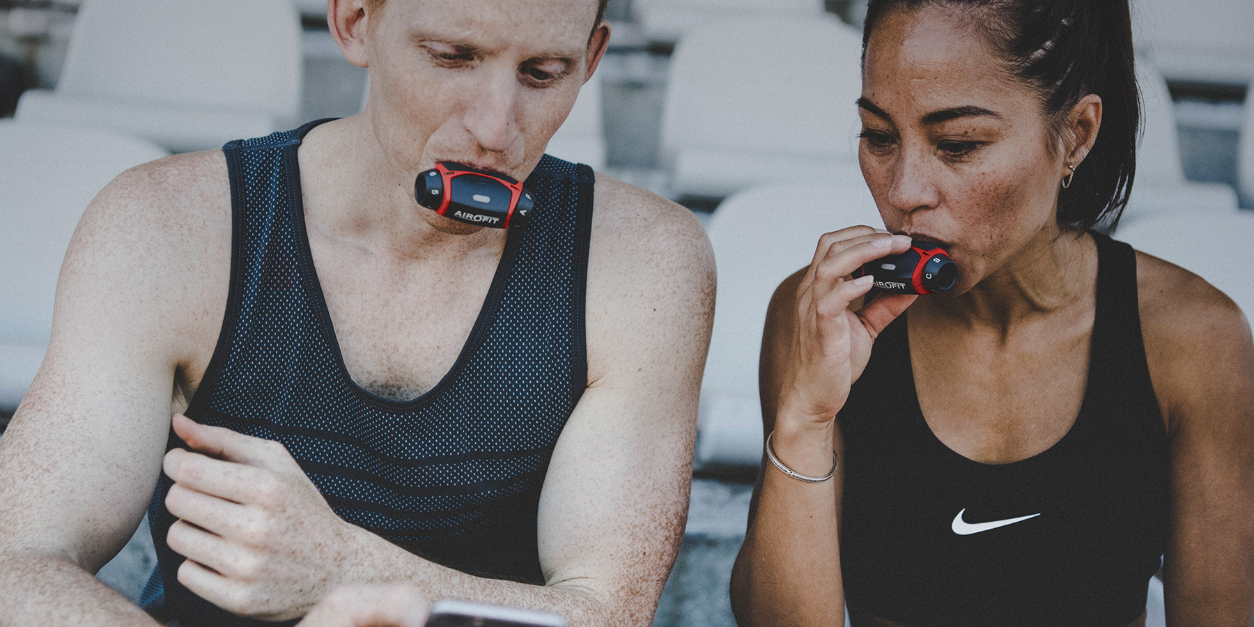 Airofit Breathing trainer - Respiratory training device designed to improve your performance