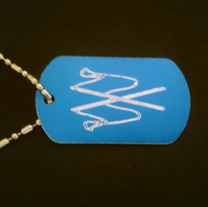 Crossed Flags Graphic Dogtag